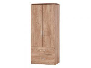 Charlton Oak 2 Door 2 Drw Wardrobe