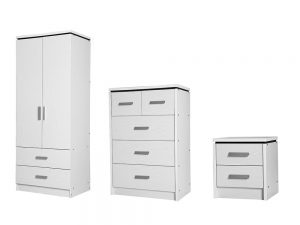 Charlton White Bedroom Set
