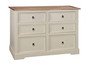 Painted Corona 6 Drawer Chest