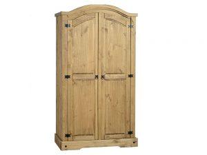 Corona 2 Door Wardrobe (Waxed Pine)