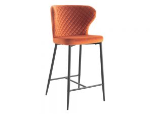 Cosmo Bar Stool (Orange Velvet)