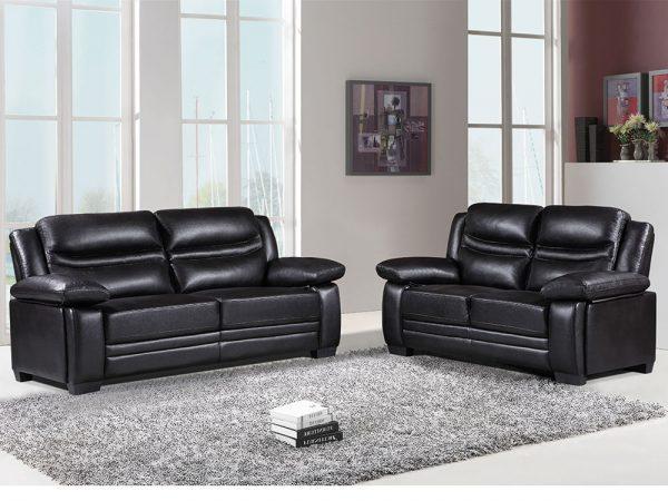 Denver Sofa 3+2 Black