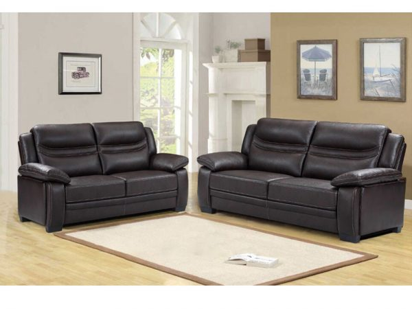 Denver Sofa 3+2 Brown