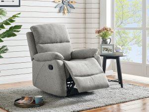 Westport Recliner Grey Fabric